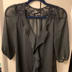 Tops - Black Sheer Blouse size Small